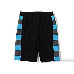 Lands' End - Black boys' graphic active shorts