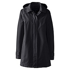 Lands' End - Black petite coastal rain parka