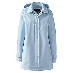 Lands' End - Blue petite coastal rain parka