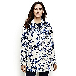 Lands' End - Multi print petite coastal rain parka