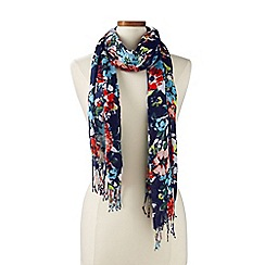 Lands' End - Multi clear coral floral scarf