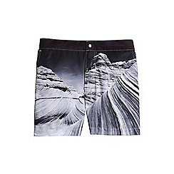 Lands' End - Black photo monterey swim shorts