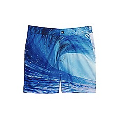 Lands' End - Blue photo monterey swim shorts
