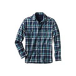 Lands' End - Blue men's patterned upf30 travel shirt