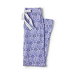 Lands' End - Purple petite jersey patterned pyjama bottoms