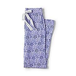 Lands' End - Purple petite jersey patterned pyjama bottoms