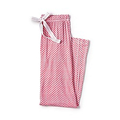 Lands' End - Pink jersey patterned pyjama bottoms