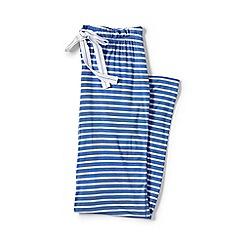 Lands' End - Blue plus jersey patterned pyjama bottoms