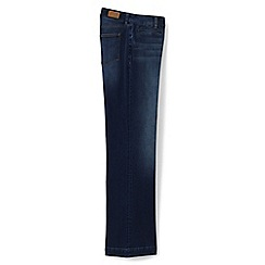 Lands' End - Blue regular mid rise dark denim trouser leg jeans
