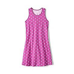 Lands' End - Pink girls' racerback dress