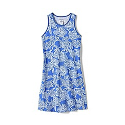 Lands' End - Blue girls' racerback dress