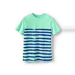 Lands' End - Green boys' painted stripe tee