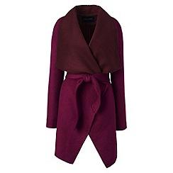 Lands' End - Red waterfall wool blend coat