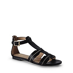 Lands' End - Black gladiator sandals