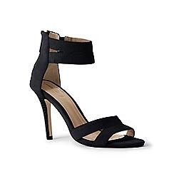 Lands' End - Black suede strappy sandals
