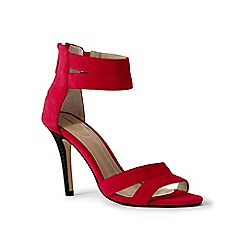 Lands' End - Red suede strappy sandals