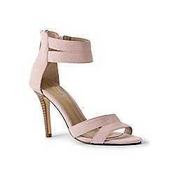 Lands' End - Pink suede strappy sandals