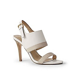 Lands' End - White heeled sandals