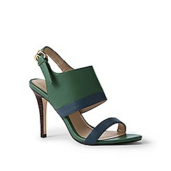 Lands' End - Green heeled sandals