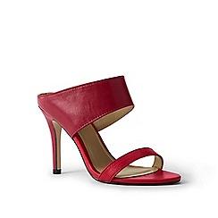 Lands' End - Red heeled slide sandals