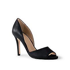 Lands' End - Black peep-toe court shoes