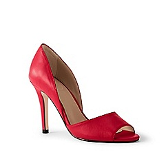 Lands' End - Red peep-toe court shoes