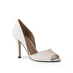 Lands' End - White peep-toe court shoes