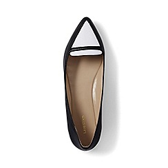 Lands' End - Black contrast pointed-toe loafers