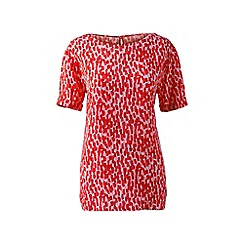Lands' End - Red regular patterned soft tee