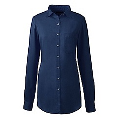Lands' End - Blue regular soft roll-sleeve shirt