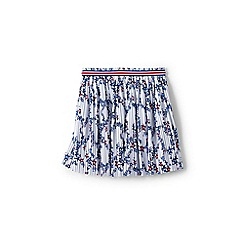 Lands' End - Girls' Blue pleated star print jersey skirt