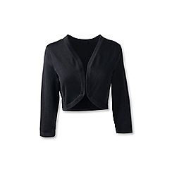 Lands' End - Black regular fine gauge supima shrug