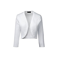 Lands' End - White regular fine gauge supima shrug