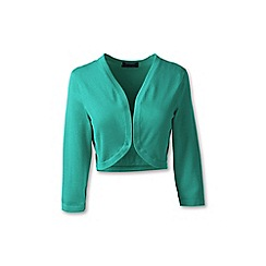 Lands' End - Green plus fine gauge supima shrug