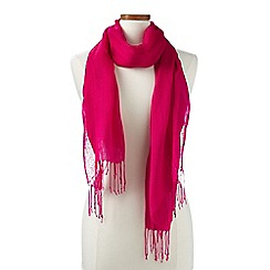 Lands' End - Pink  plain linen/viscose scarf