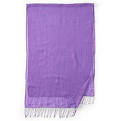 Lands' End - Purple  plain linen/viscose scarf