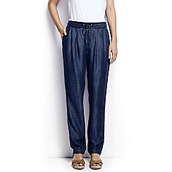 Lands' End - Blue petite indigo soft trousers
