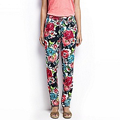 Lands' End - Multi petite floral soft trousers