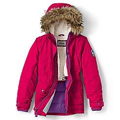 Lands' End - Girls' pink expedition parka