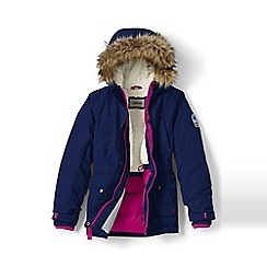 Lands' End - Girls' blue expedition parka