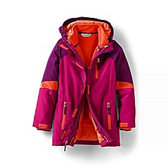 Lands' End - Girls' pink stormer 3 in 1 parka