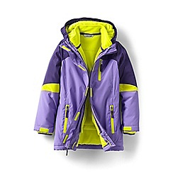 Lands' End - Girls' purple stormer 3 in 1 parka