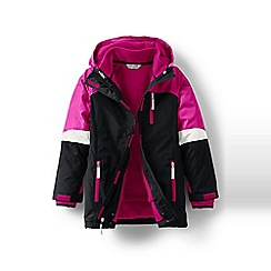 Lands' End - Girls' black stormer 3 in 1 parka
