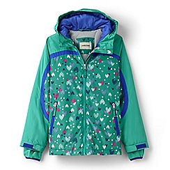 Lands' End - Green girls' patterned stormer jacket