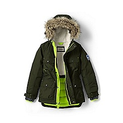 Lands' End - Boys' green expedition parka