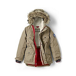Lands' End - Boys' beige expedition parka