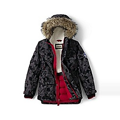 Lands' End - Boys' black patterned expedition parka