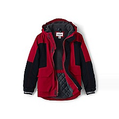 Lands' End - Boys' red waterproof squall parka