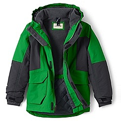Lands' End - Boys' green waterproof squall parka