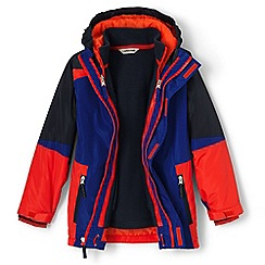 Lands' End - Boys' blue stormer 3 in 1 parka